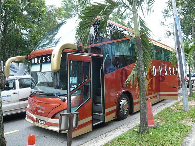 Mont Kiaraからシンガポールへバスで行く旅