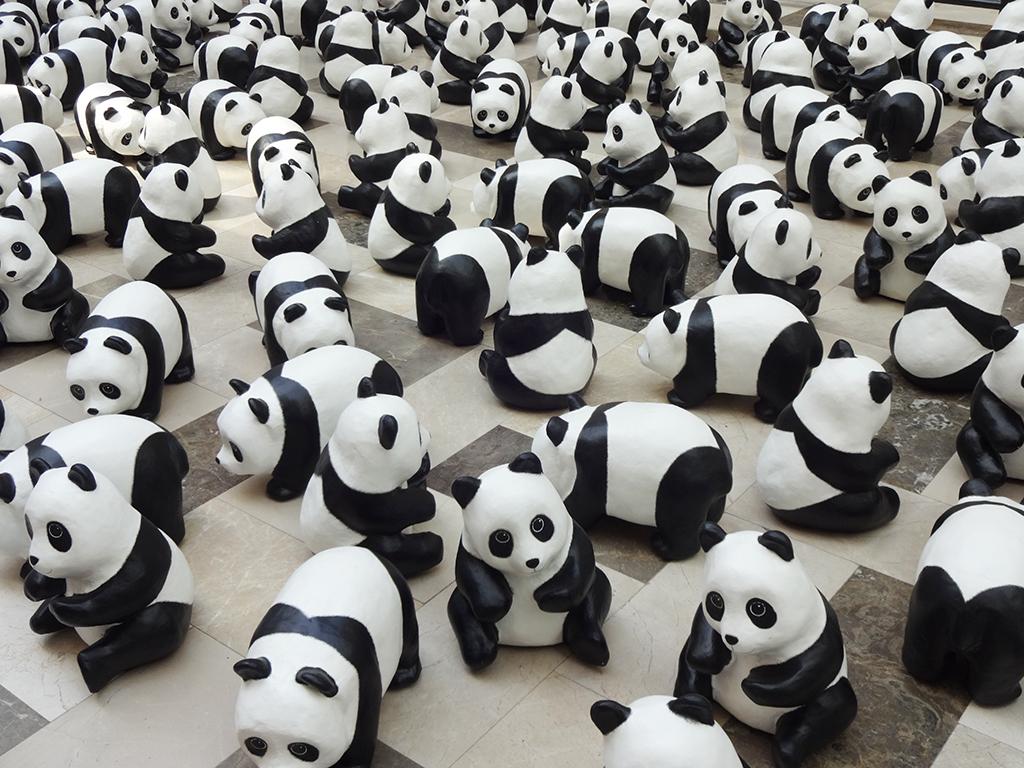 1600体のパンダがpublikaに♪1600パンダ世界ツアー